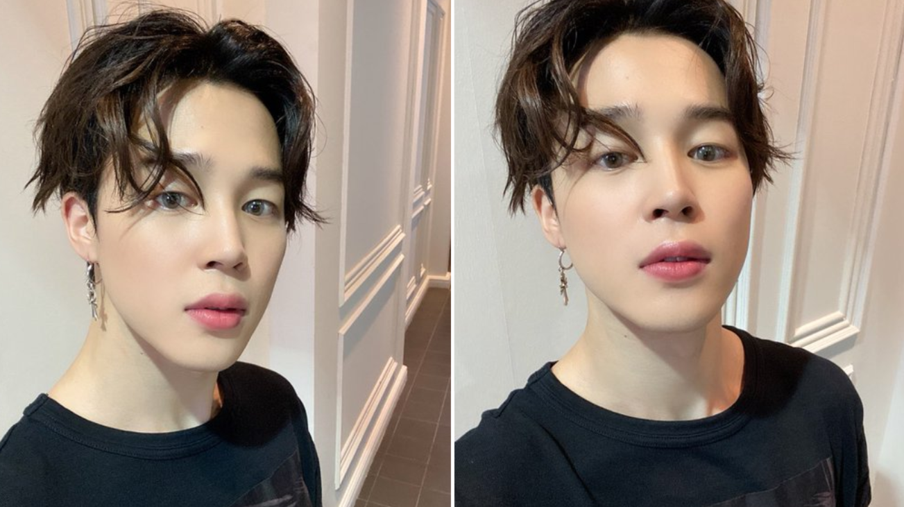 Bts Jimin Posts Selfie After A Long Absence Cool Hairstyles Nomnomkiyow